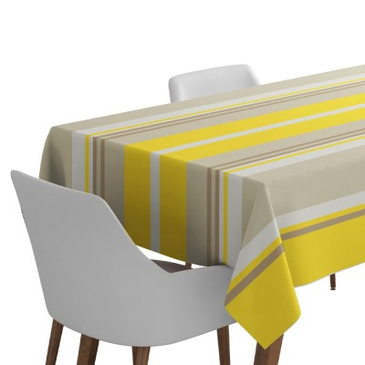 Weaved oil tablecloth Iruna Soleil - Jean-Vier