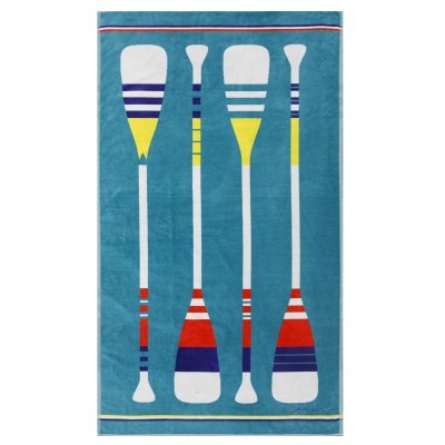 Beach towel Paddle Turquoise - Jean-Vier
