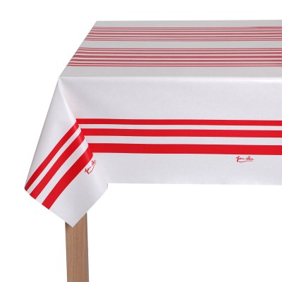 Weaved oil tablecloth Saial Rouge - Jean-Vier