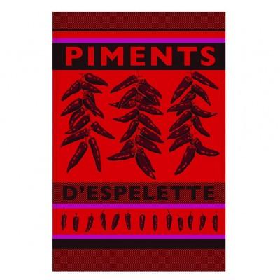 Pano de prato Arnaga Piments d'Espelette - Jean-Vier