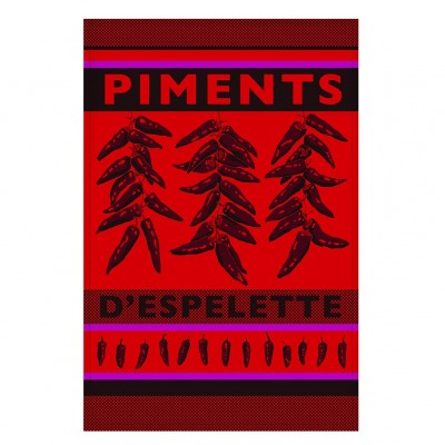 Kitchen towel Arnaga Piments d'Espelette - Jean-Vier
