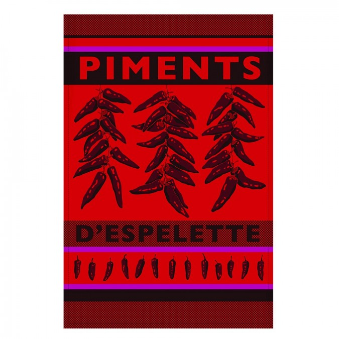 Torchon Arnaga Piments d'Espelette - Jean-Vier