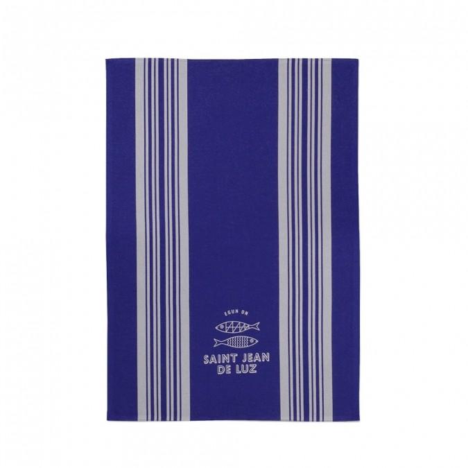 Jacquard Dish Towel Saint Jean de Luz Bleu - Jean-Vier