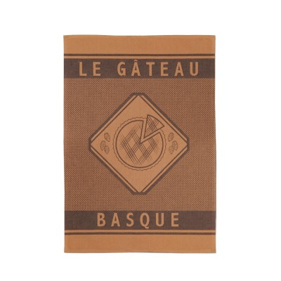 Geschirrtuch Errobi Gateau Basque Marron - Jean-Vier