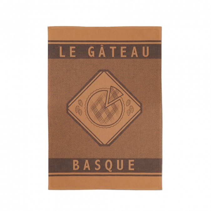 Jacquard Dish Towel Errobi Gateau Basque Marron - Jean-Vier