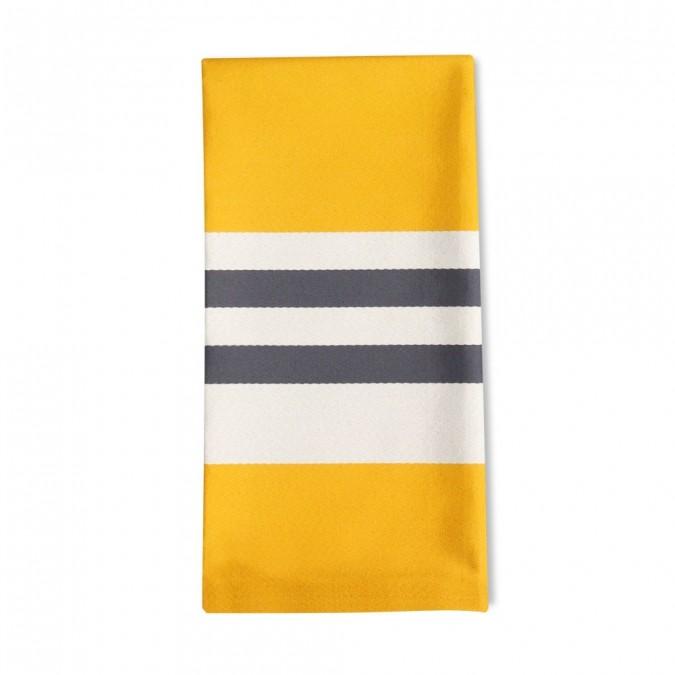 Striped napkin Ainoha Gold - Jean-Vier