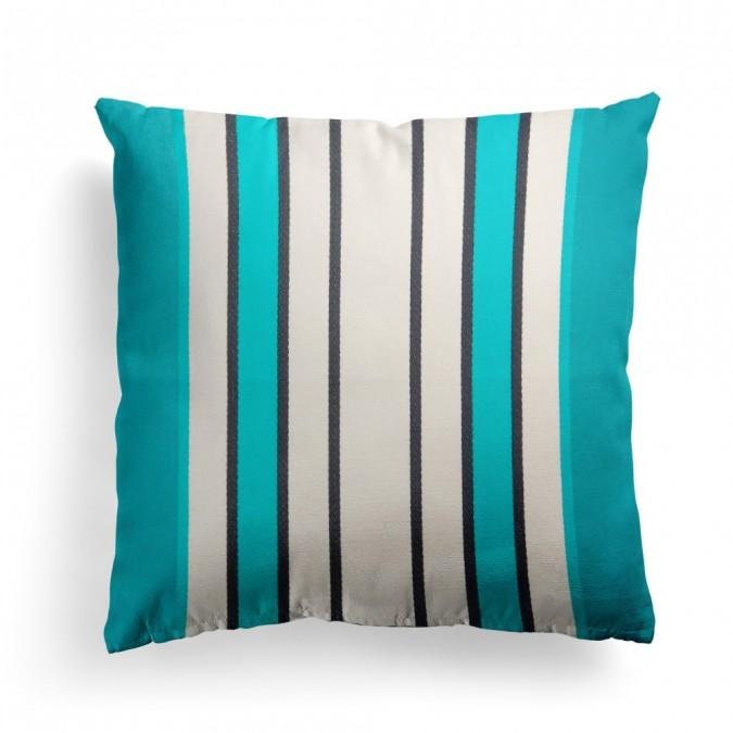 Cushion cover Espelette Paon - Jean-Vier