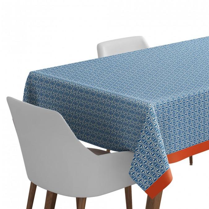 Toile cirée Irissary bleu - Jean-Vier