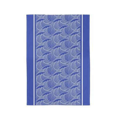 Dish towel Bilbatu vagues blue