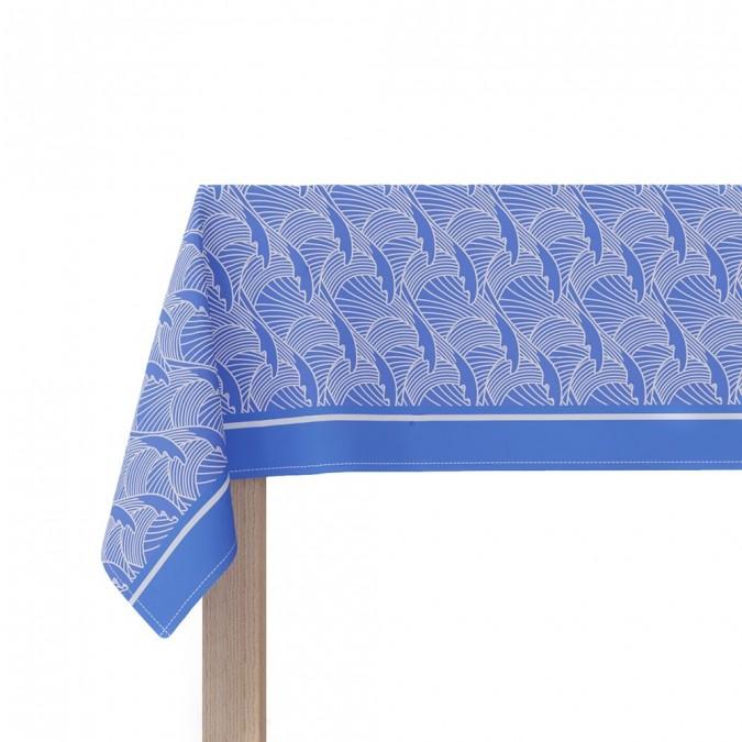 Tablecloth Bilbatu vagues blue - Jean-Vier