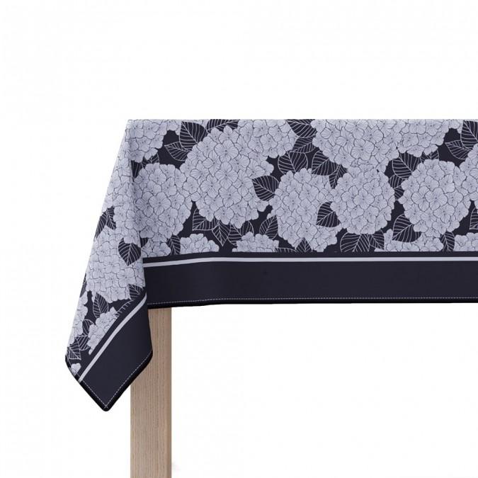 Toalha de mesa Bilbatu hortensias reglisse - Jean-Vier