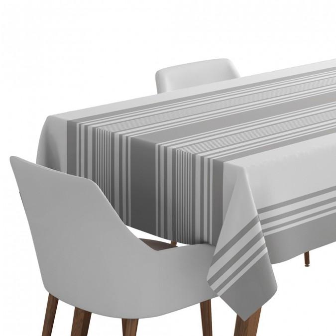 Cotton Tablecloth Ascain Grey