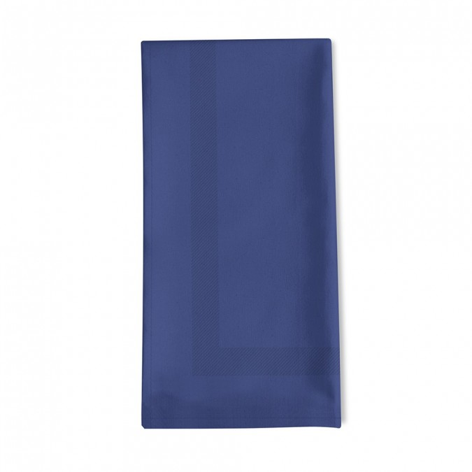 Serviette de table unie Enea Indigo - Jean-Vier