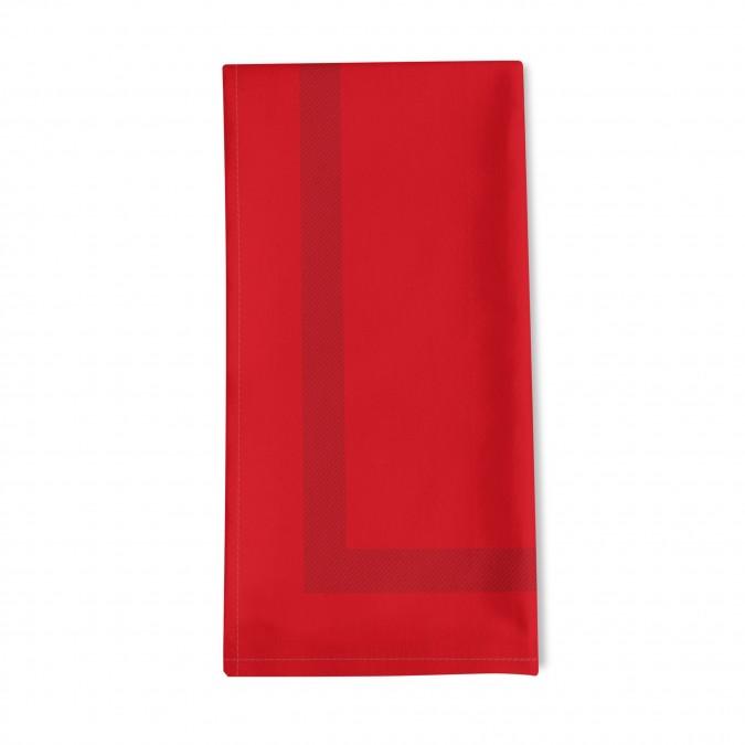 Serviette de Table unie Enea rouge - Jean-Vier