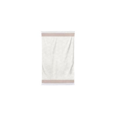 Artea Ecru Red Guest Towel