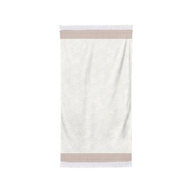 Bath towel Artea Ecru red...
