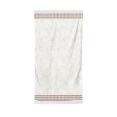 Shower sheet Artea Ecru Red