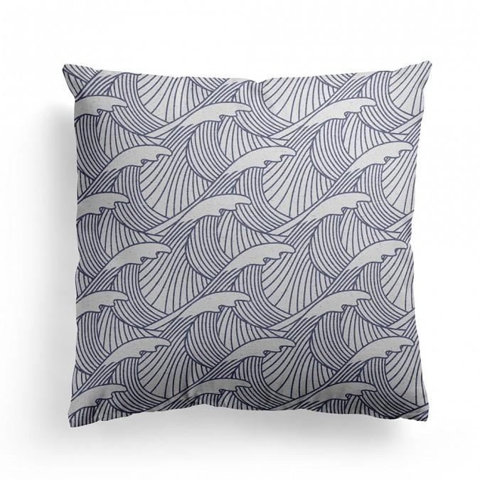 Capa de almofada uhaina olatua azul - Jean-Vier
