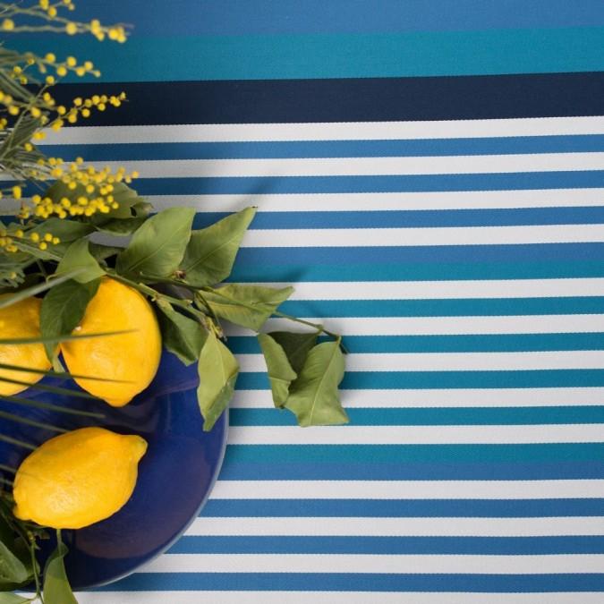 Mantel Ainhoa de rayas azules atlánticas