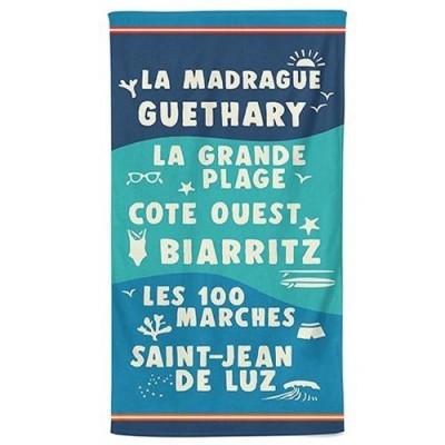 Beach towel flots bleu