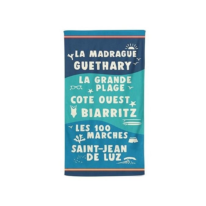 Beach towel flots bleu - Jean-Vier