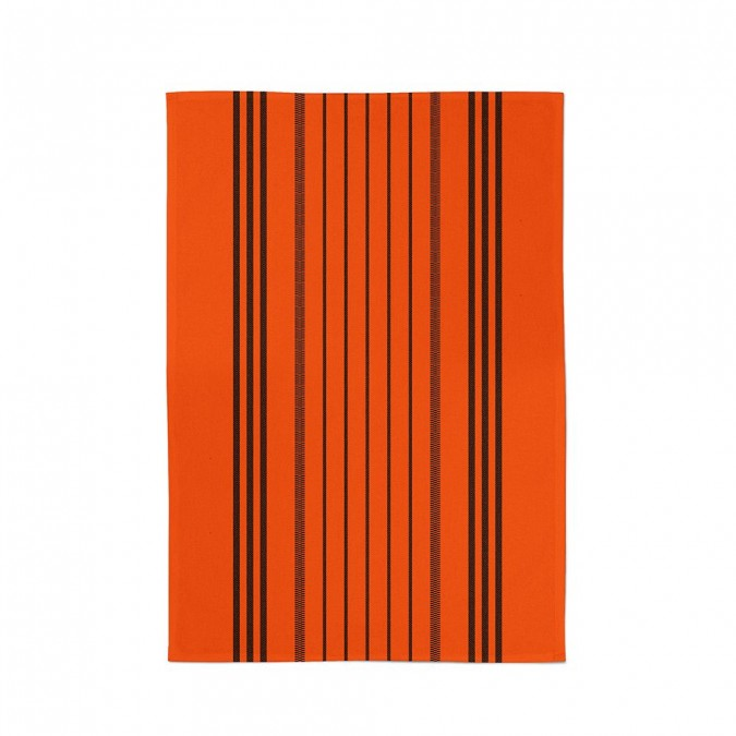 dish towel with stripes marra vermillon - Jean-Vier
