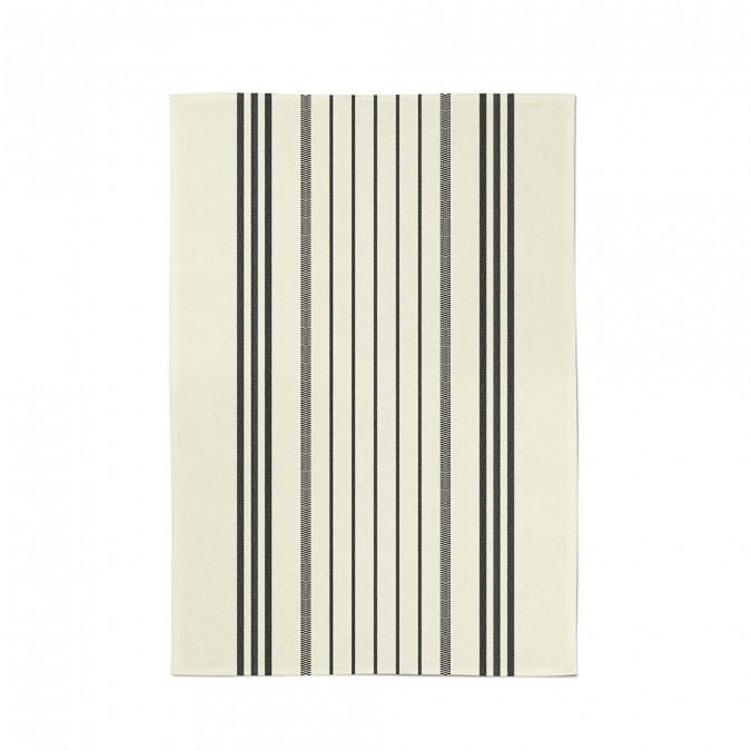 Striped dish torchon marra ivoire - Jean-Vier