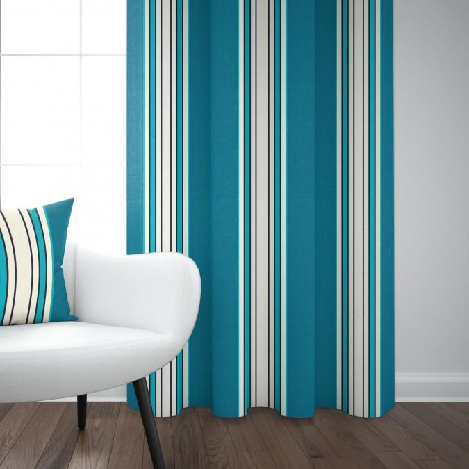 Cotton curtain Espelette Paon