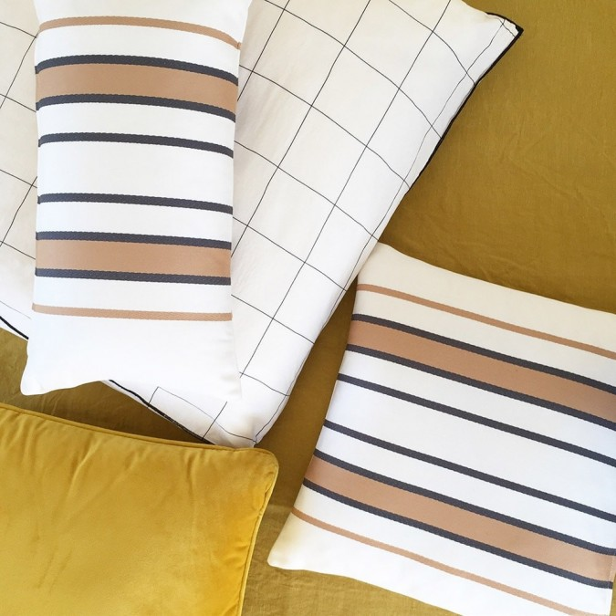 Cushion cover Espelette brown 100% cotton
