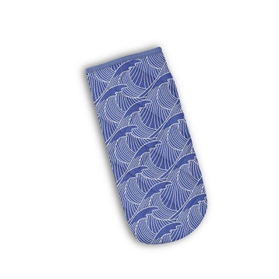 Gant à four Bilbatu vagues bleu