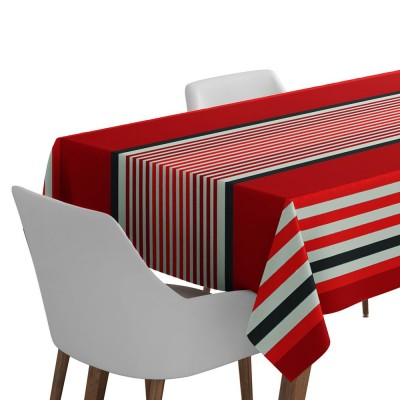 Nappe de table Ainhoa couleur rouge piment