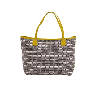 Shopping bag Casino Biarritz1930 crudo y amarillo - Jean-Vier