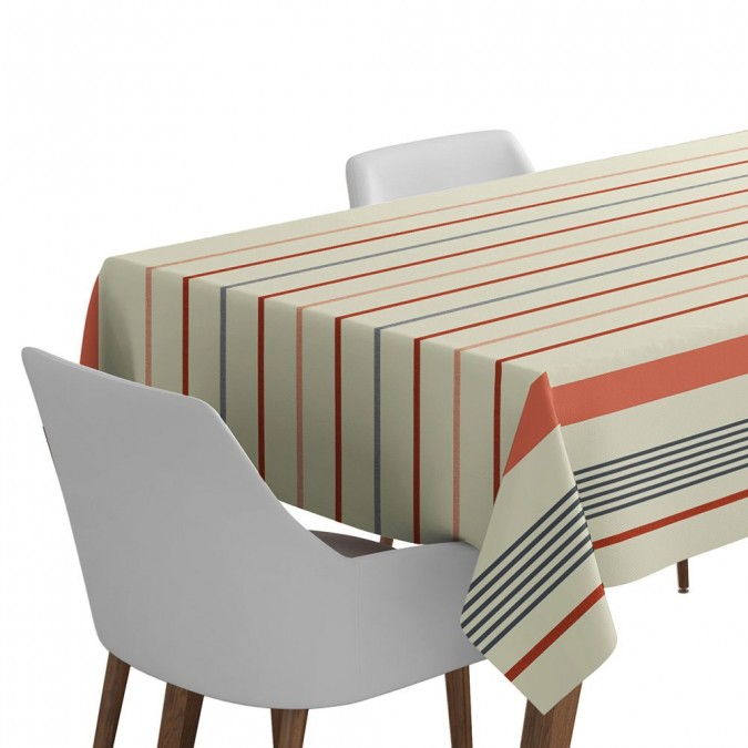 Tablecloth ustaritz terracotta - Jean-Vier
