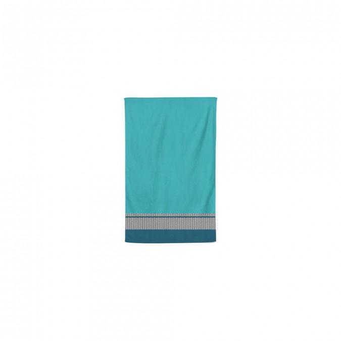 Asciugamano ospite in cotone blu Beaumanoir - Jean-Vier