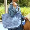 Shopping bag Bilbatu vagues blue - Jean-Vier