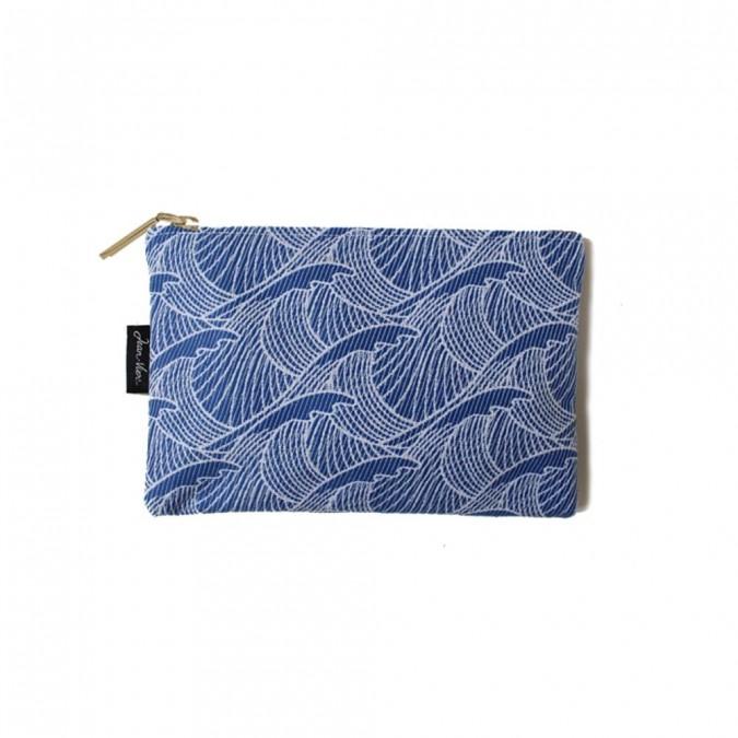 Pochette plate Bilbatu vagues bleu - Jean-Vier