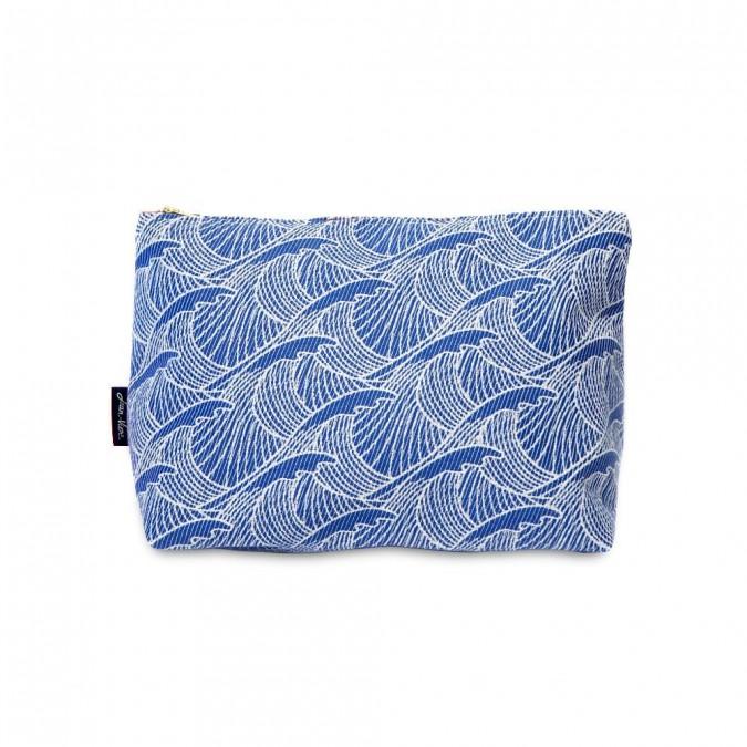 Trousse de toilette Bilbatu vagues bleu - Jean-Vier