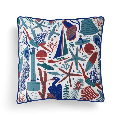 Cushion cover Udako Ocean 40x40