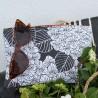 Pochette plate hortensias bilbatu reglisse - Jean-Vier