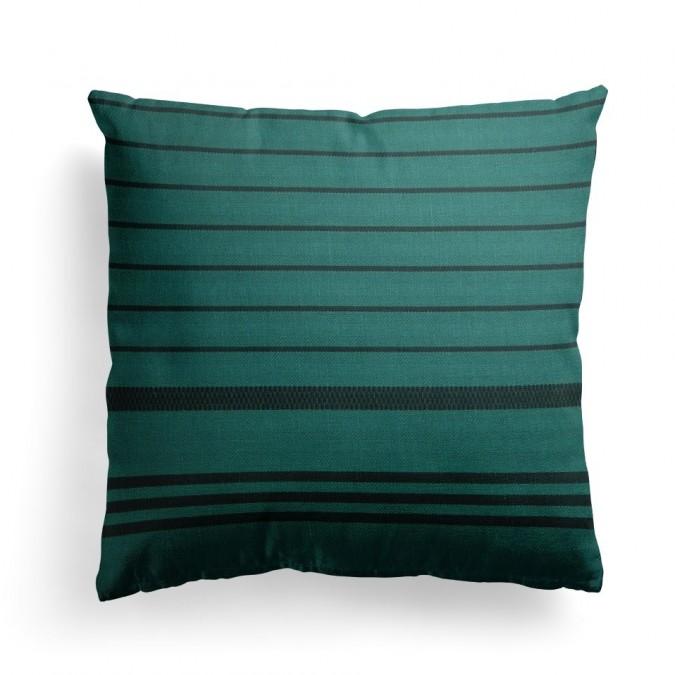 Cushion cover Berrain Petrole - Jean-Vier