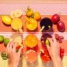 Toalha de mesa emborrachada Lasarte Orange - Jean-Vier