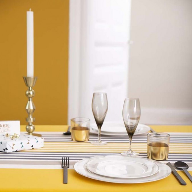 Mantel Ainhoa Rayas de color oro