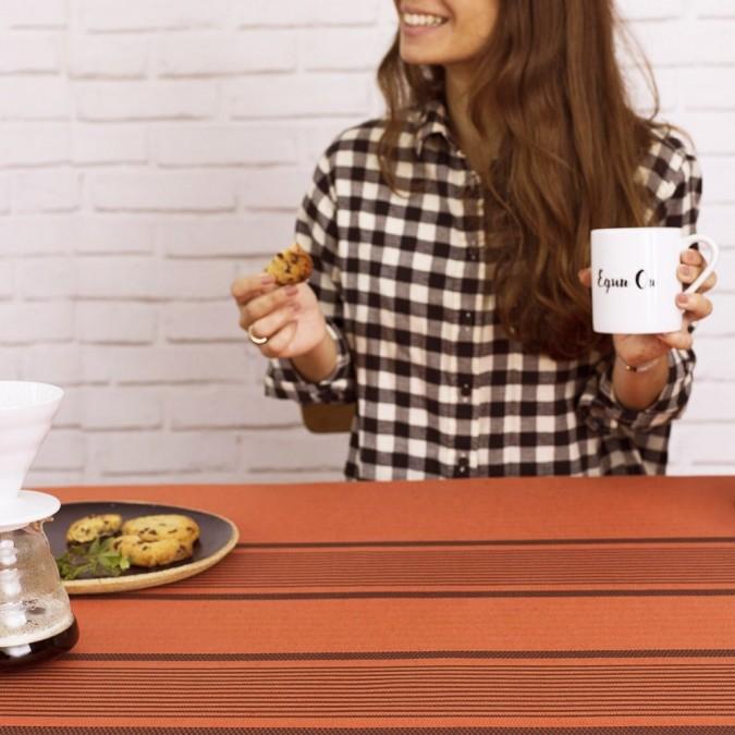 Tablecloth Berrain tangerine color