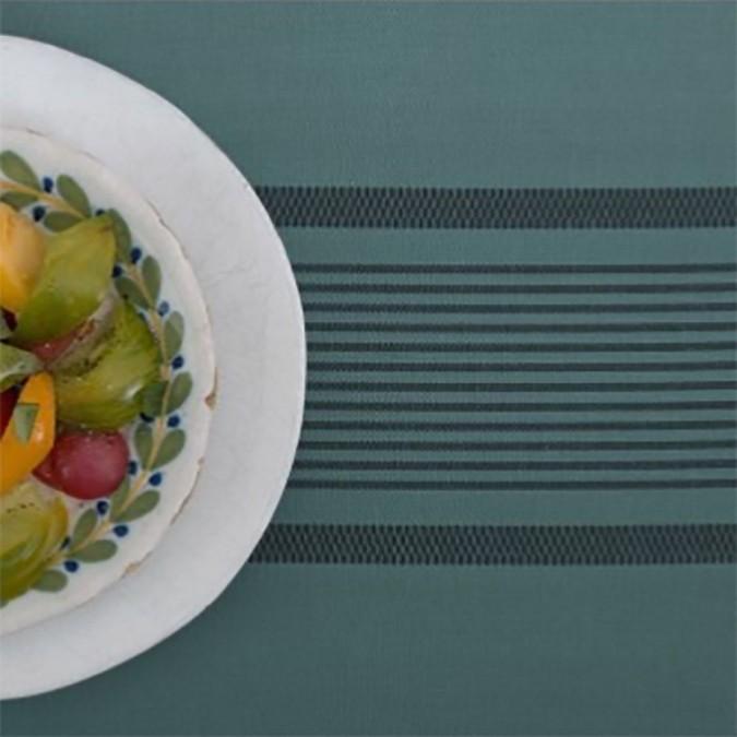 Berrain cotton and linen tablecloth blue color