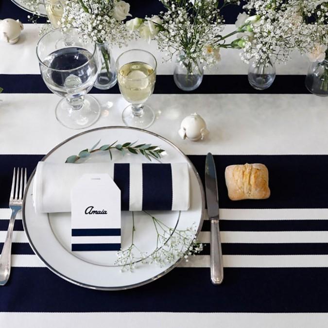 Tablecloth Pampelune Modern and elegant ink