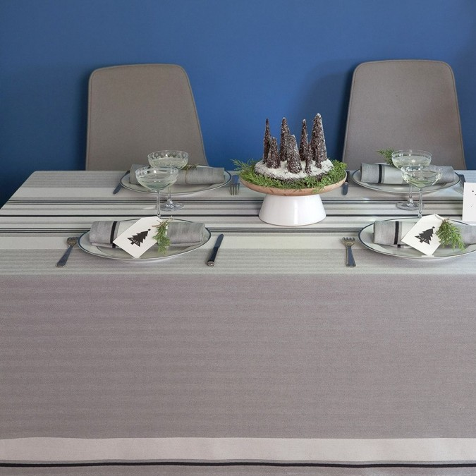 Nappe de table Donibane chic de couleur grise