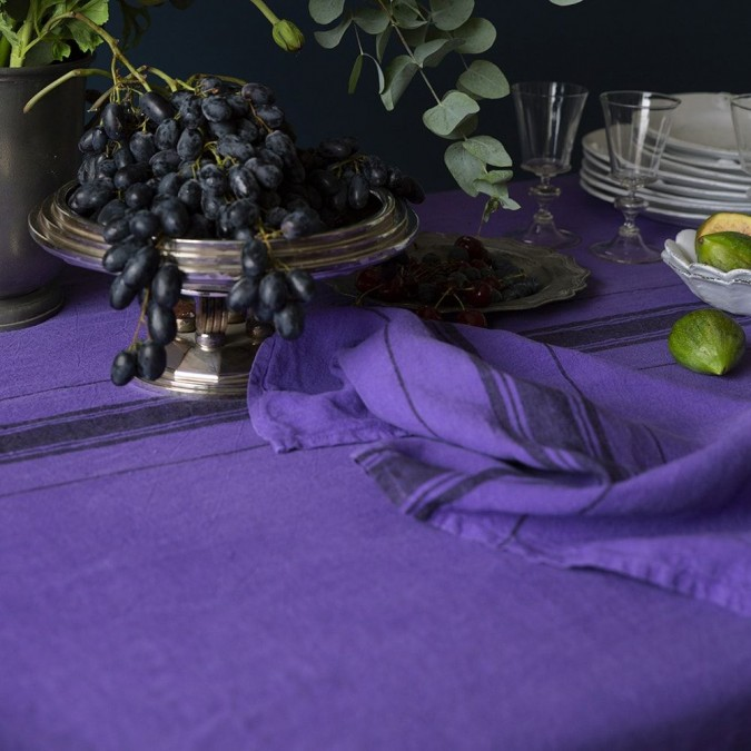Nappe de table Beaurivage Violet en lin