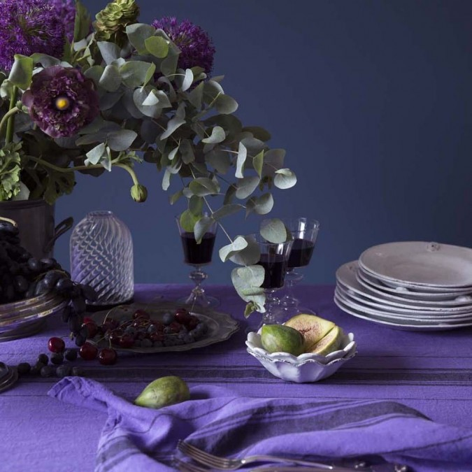 Nappe en lin violette collection Beaurivage