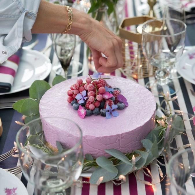 Nappe Ainhoa Myrtille élégante et moderne