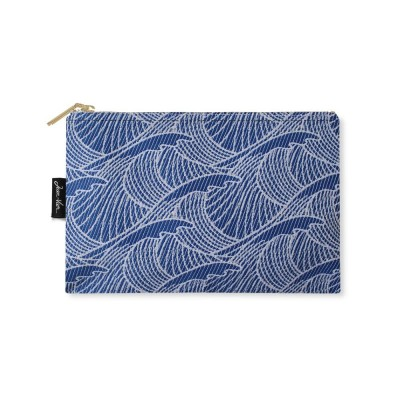 Bilbatu Vagues blue flat purse - Jean-Vier